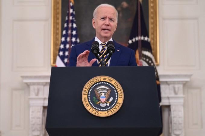Tổng thống Mỹ Joe Biden phát biểu tại Nhà Trắng hôm 18/6. Ảnh: AFP.