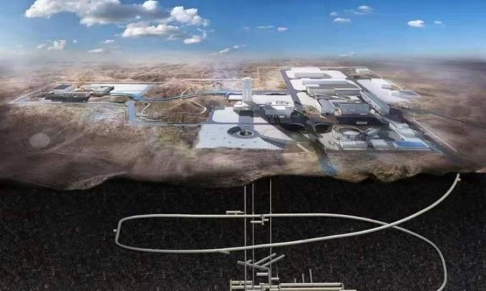 Thiết kế của phòng thí nghiệm bên dưới sa mạc Gobi. Ảnh: SCMP.