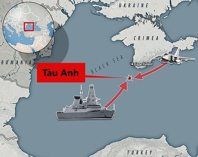 Nội bộ Anh có thể hục hặc vì chiến hạm áp sát Crimea