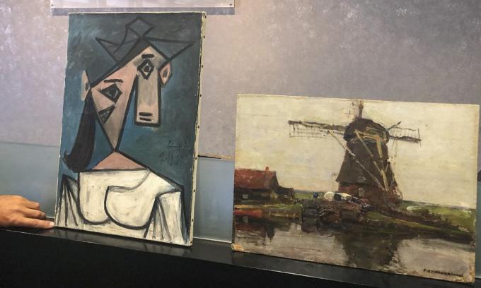 Tranh quý của Picasso bị vùi trong hẻm núi