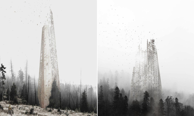 Thiết kế của Regenera - cấu trúc làm từ đất, hạt giống và chất dinh dưỡng. Ảnh: Alberto Roncelli.