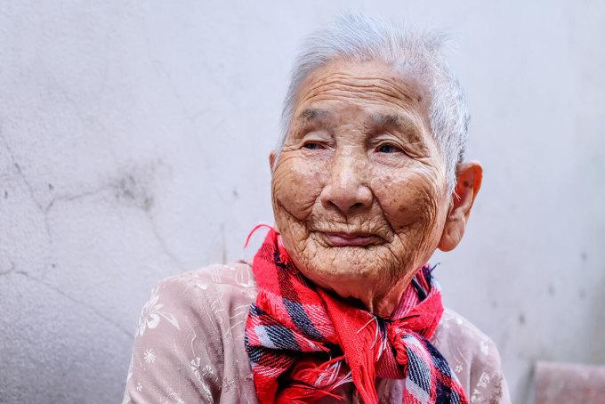 Mẹ Việt Nam anh hùng Lê Thị Chi. Ảnh: Nguyễn Đông.