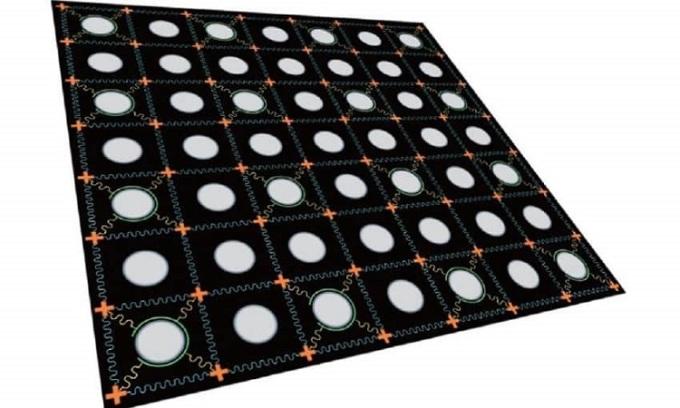 Chip qubit siêu dẫn hai chiều. Ảnh: Đại học Khoa học và Công nghệ Trung Quốc.