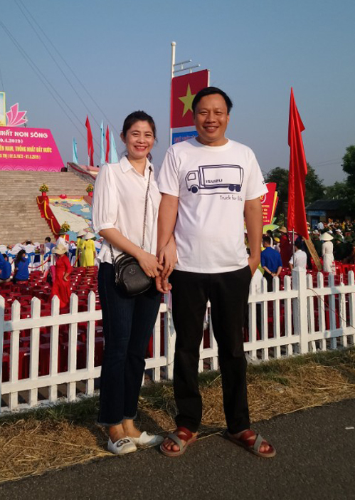 Vợ chồng anh Nguyễn Văn Thắng ở Quảng Trị. Ảnh: NVCC.