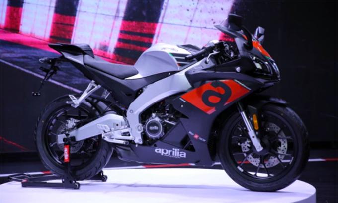 Aprilia GPR250R bản 2021 ra mắt tại Triển lãm ôtô Tây An, Trung Quốc. Ảnh: Newmotor