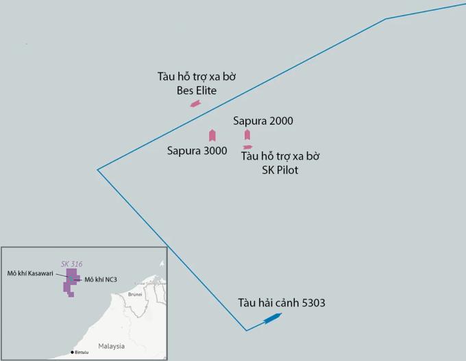 Hải cảnh Trung Quốc bị tố quấy rối tàu dầu khí Malaysia