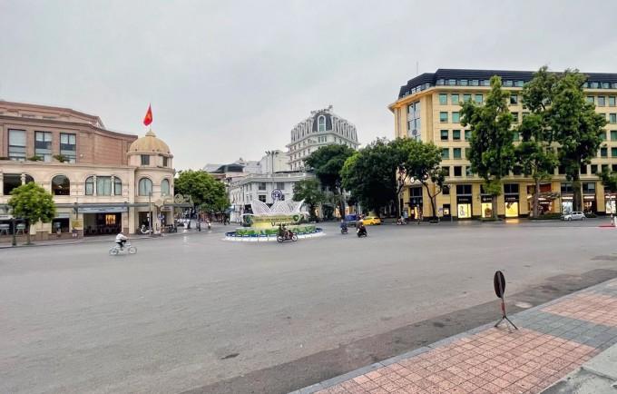 Quảng trường cách mạng tháng Tám chiều 18/7. Ảnh: Giang Huy.