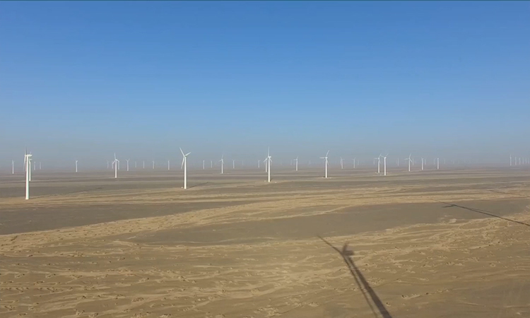 Trang trại điện gió 10 triệu kW trên sa mạc Trung Quốc