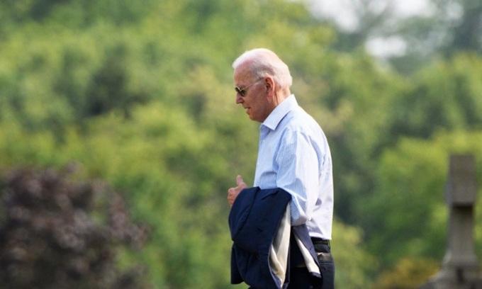 Tổng thống Mỹ Joe Biden tại thành phố Wilmington, bang Delaware hôm 24/7. Ảnh: AFP.