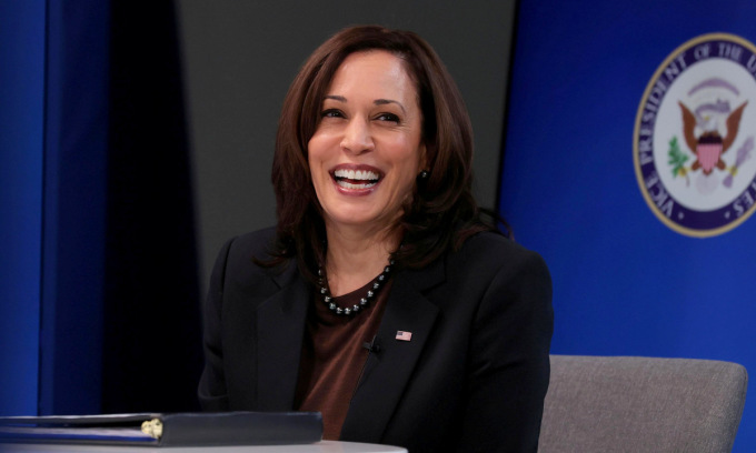 Phó tổng thống Harris trong một cuộc họp tại Nhà Trắng hồi tháng 3. Ảnh: Reuters.