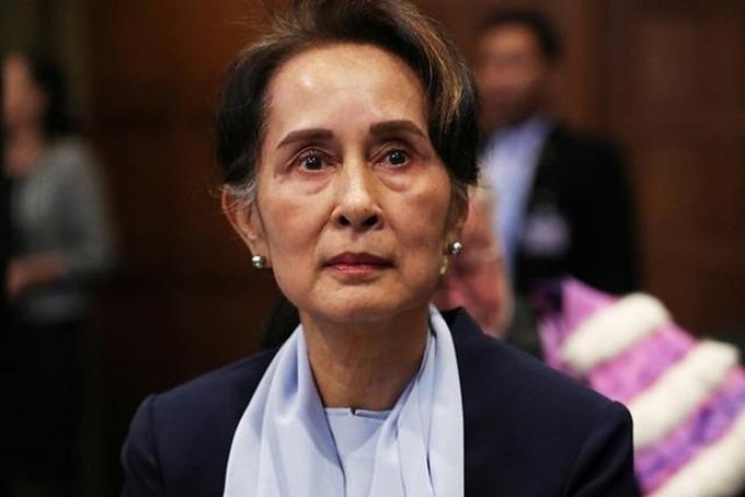 Cố vấn nhà nước Myanmar Aung San Suu Kyi tham dự phiên tòa ở Tòa án Công lý Quốc tế ở The Hague, Hà Lan, hồi tháng 12/2019. Ảnh: Reuters