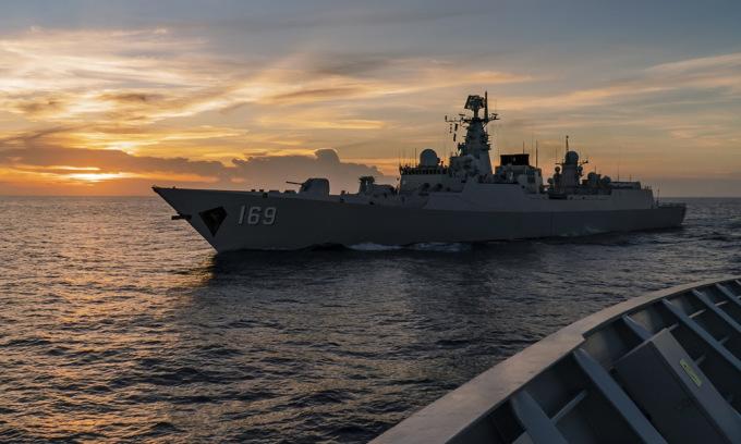 Chiến hạm Trung Quốc trên Biển Đông hồi tháng 6/2020. Ảnh: 81.cn.