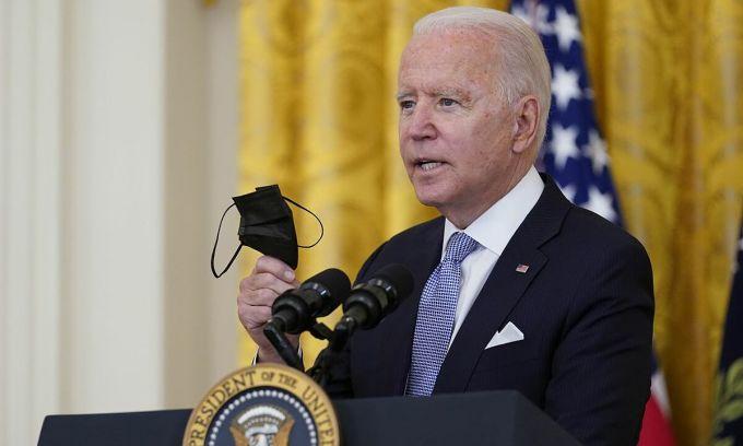 Tổng thống Mỹ Joe Biden họp báo tại Phòng Đông, Nhà Trắng vào ngày 29/7. Ảnh: AP.