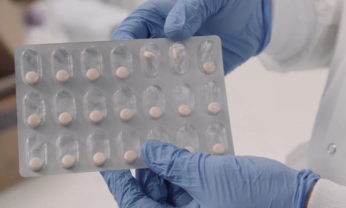 Một vỉ đựng vaccine Covid-19 dạng viên tiềm năng của hãng công nghệ sinh học Mỹ Vaxart. Ảnh: Vaxart.