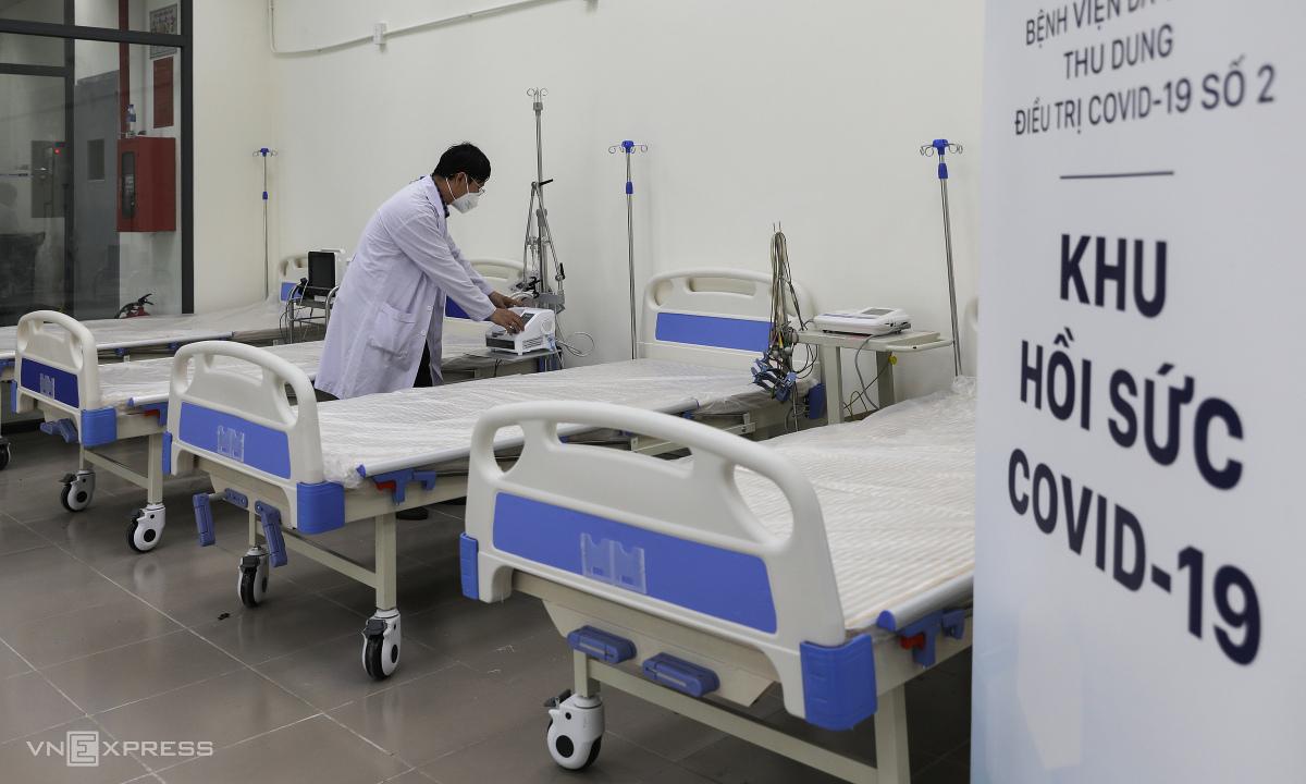 48 giờ lập khu hồi sức Covid-19 trong bệnh viện dã chiến