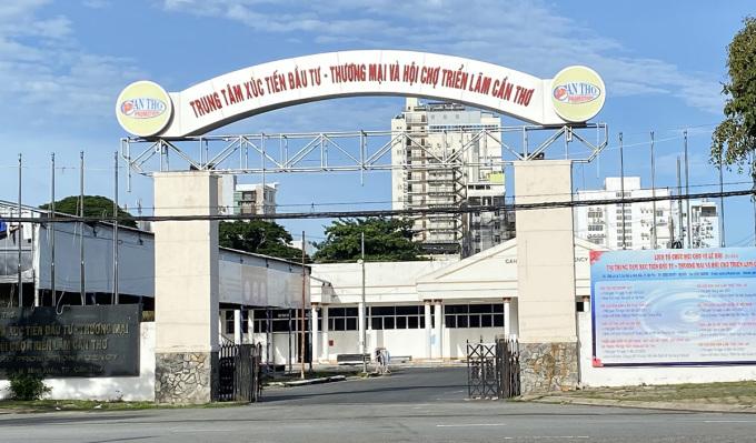 Khu A, Bệnh viện dã chiến số 2 được xây dựng tại Trung tậm Xúc tiến đầu tư - Thương mại và Hội chợ triển lãm Cần Thơ. Ảnh: Cửu Long