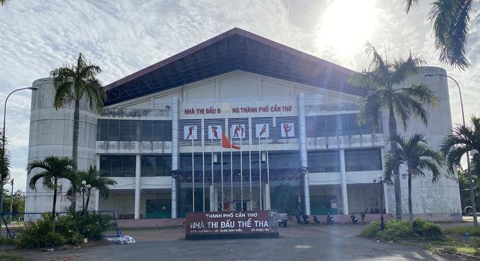 Khu B, Bệnh viện dã chiến số 2 được xây dựng tại Nhà thi đấu đa năng, TP Cần Thơ. Ảnh: Cửu Long