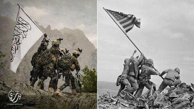 Taliban nhại ảnh biểu tượng của lính Mỹ