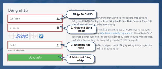Hướng dẫn chi tiết điều chỉnh nguyện vọng trực tuyến