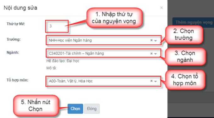 Hướng dẫn chi tiết điều chỉnh nguyện vọng trực tuyến - 8