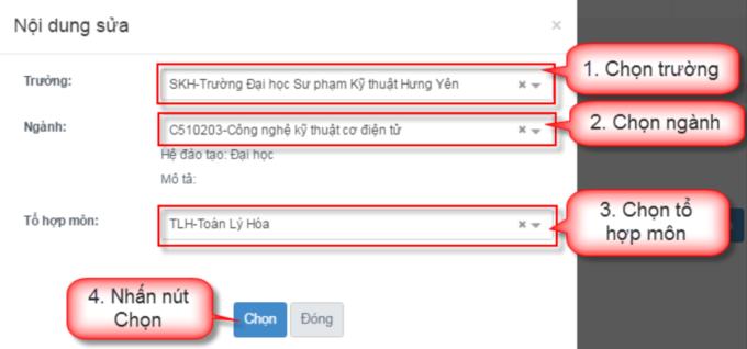 Hướng dẫn chi tiết điều chỉnh nguyện vọng trực tuyến - 9
