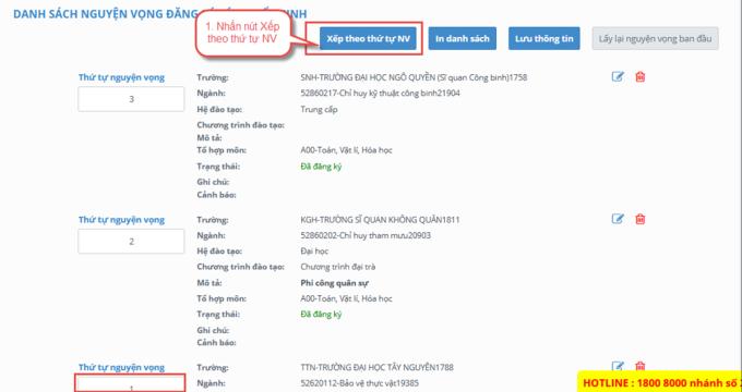 Hướng dẫn chi tiết điều chỉnh nguyện vọng trực tuyến - 5