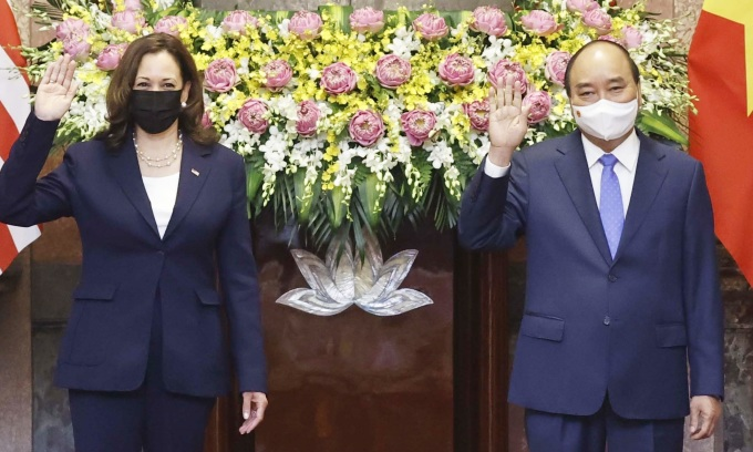 Lãnh đạo Việt Nam tiếp Phó tổng thống Mỹ