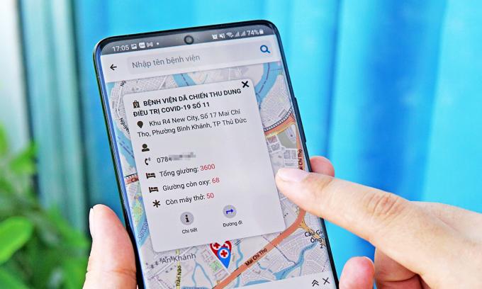 Ứng dụng Oxy247 trên smartphone. Ảnh: Lưu Quý