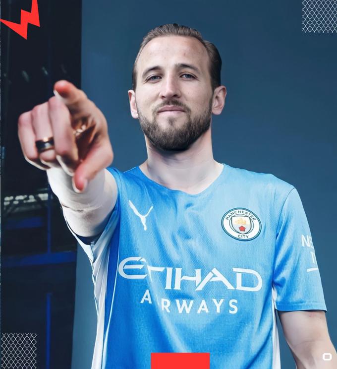 ... nhưng đều là photoshop, còn hiện tại thì Kane đã quyết định ở lại Tottenham.