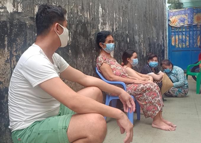 Người lao động ở khu trọ của anh Nguyễn Vũ Phong chưa nhận được sự hỗ trợ nào dù nhiều lần liên hệ - Ảnh: An Phương
