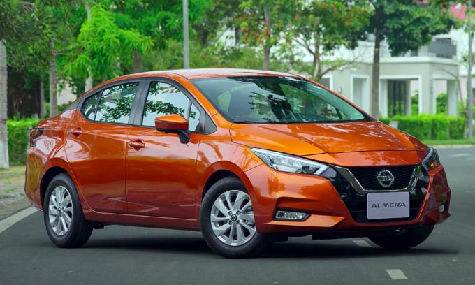 Alema - bản nhập khẩu thay thế Sunny (lắp ráp). Ảnh: Nissan