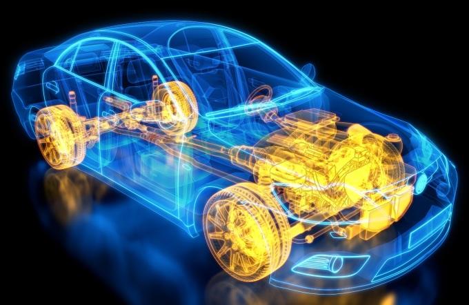 Những bộ phận chuyển động (màu vàng) trên xe đều tạo ra tiếng ồn trên xe ô tô. Ảnh: Siemens