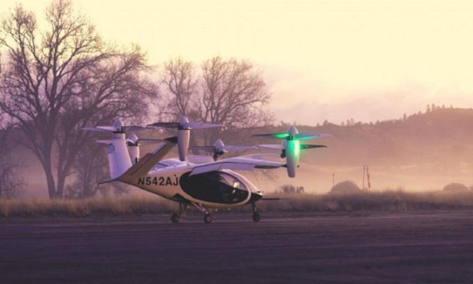 Máy bay của Joby tại cơ sở thử nghiệm. Ảnh: Joby