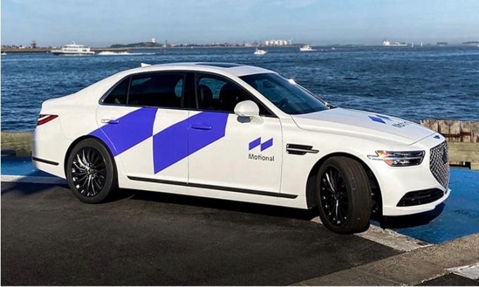 Mẫu xe tự lái của Motional dựa trên chiếc Hyundai Ioniq 5. Ảnh: Motional