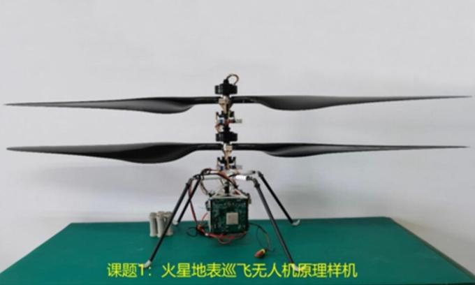 Nguyên mẫu trực thăng sao Hỏa do Trung Quốc phát triển. Ảnh: NSSC/CAS