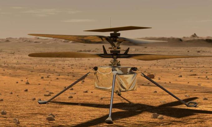Thiết kế trực thăng Ingenuity hoạt động trên sao Hỏa của NASA. Ảnh: NASA/JPL-Caltech