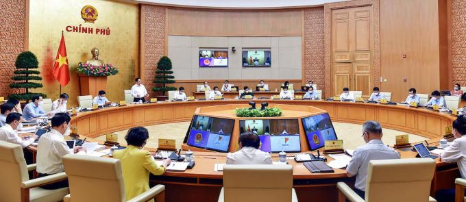 Toàn cảnh phiên họp Chính phủ ngày 6/9. Ảnh: Nhật Bắc