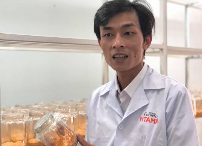 Nuôi cấy đông trùng hạ thảo tại Trung tâm Ứng dụng tiến bộ KHCN - đơn vị sự nghiệp KHCN công lập thuộc Sở Khoa học và Công nghệ Gia Lai. Ảnh: HM.