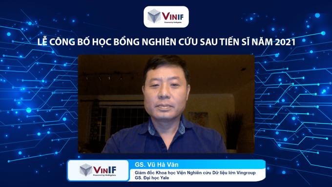 Giáo sư Vũ Hà Văn - Giám đốc Khoa học Quỹ Đổi mới Sáng tạo Vingroup VinIF