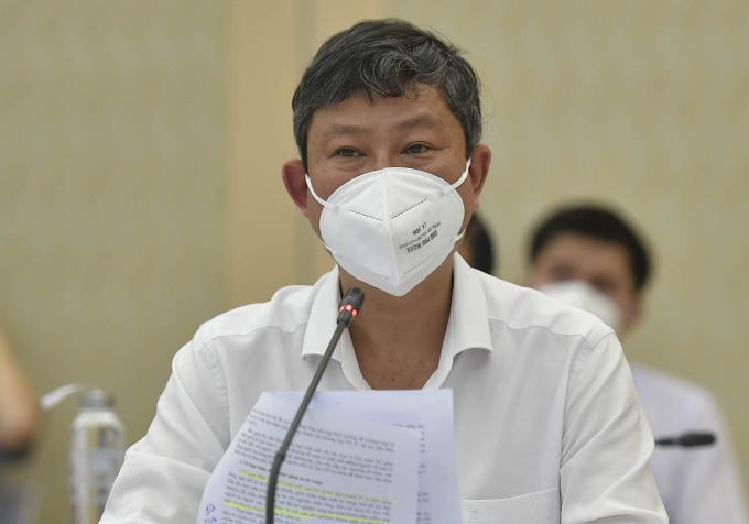 Ông Võ Văn Minh trong một buổi làm việc với Đoàn công tác Chính phủ về công tác phòng chống Covid-19 hồi tháng 8. Ảnh: VPG