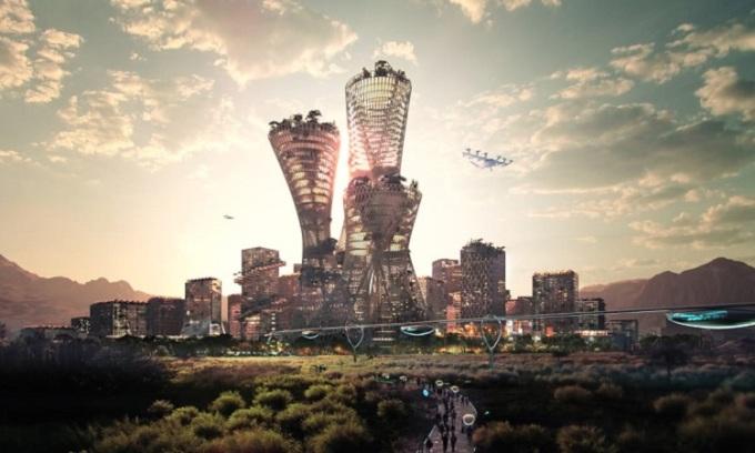 Một bản vẽ thiết kế thành phố Telosa. Ảnh: BIG