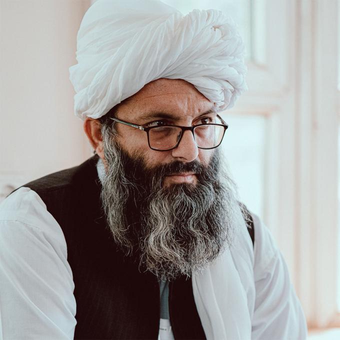 Thứ trưởng Hành hương và Các vấn đề tôn giáo Afghanistan Hafiz Habib trả lời phỏng vấn tờ NY Post ngày 9/9. Ảnh: NY Post.