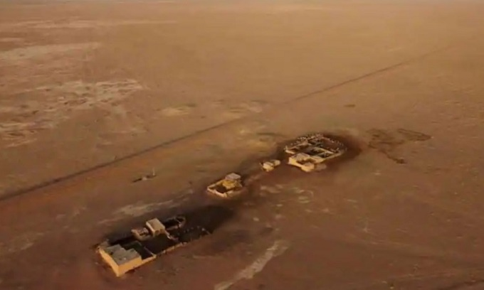 Công trường xây dựng lò phản ứng sử dụng nhiên liệu thorium ở Cam Túc. Ảnh: Reuters
