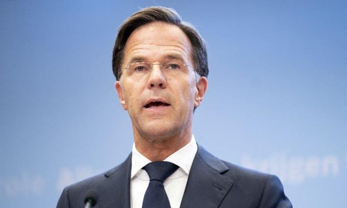 Thủ tướng Hà Lan Mark Rutte phát biểu trong cuộc họp báo tại The Hague hôm 14/9. Ảnh: AFP.