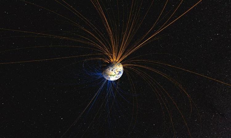 Hành tinh cổ đại có thể khiến từ trường Trái Đất đảo ngược