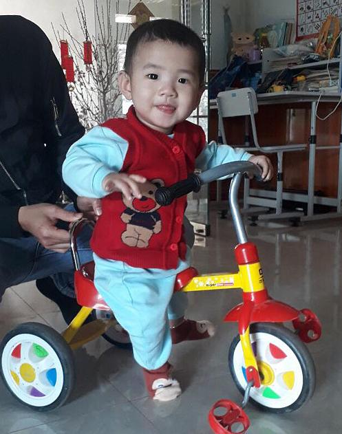 Con trai Luân, bé Nguyễn Tùng Dương, hiện hơn 1 tuổi và ở Hà Nội cùng mẹ. Ảnh:Nhân vật cung cấp