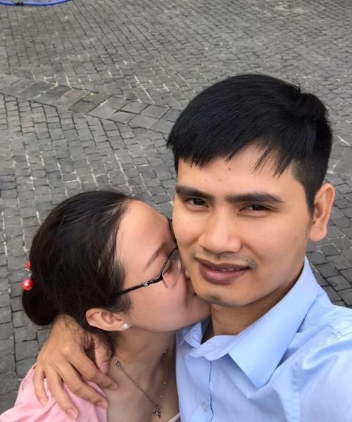 Vợ chồng anh Luân chụp ảnh năm 2019. Ảnh:Nhân vật cung cấp