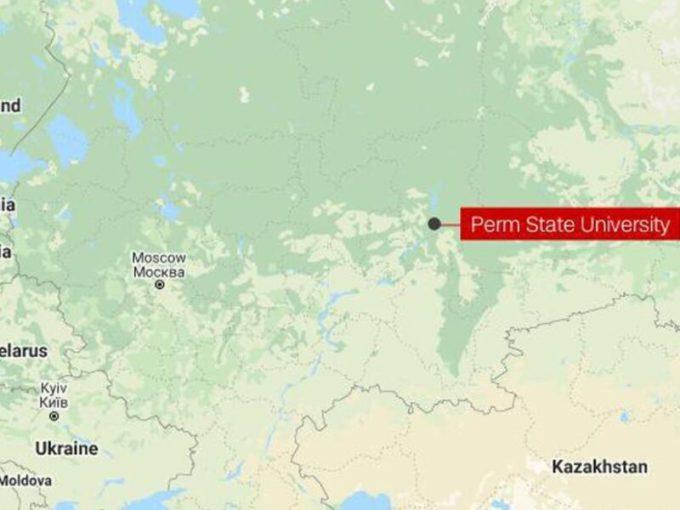 Vị trí Đại học Perm ở phía đông Moskva. Đồ họa: Google Maps.