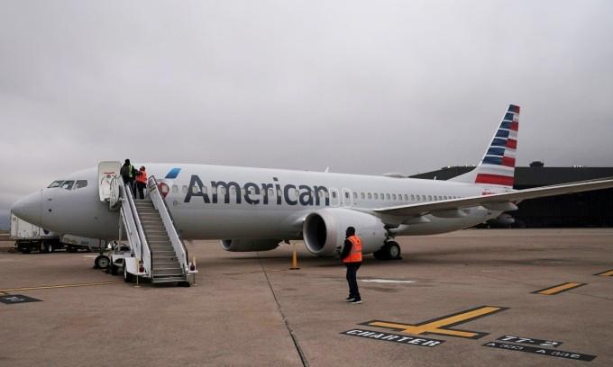 Một máy bay 737 MAX của American Airlines tại sân bay ở Dallas, Texas, Mỹ. Ảnh:Reuters.
