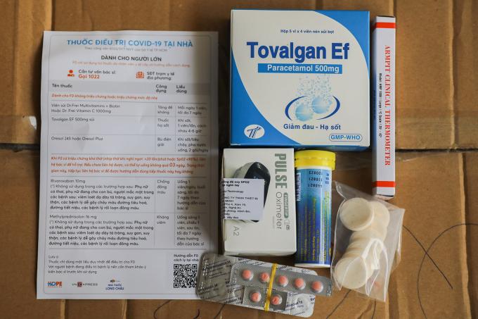 Mỗi túi thuốc F0 gồm..